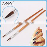 ANY Nail Art Beauty Care Golden Wood Handle Pure Sable Acrylic Nail Brush