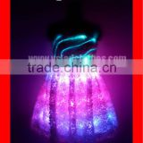 Sparkling Girls White Short Angel Costumes Dress with Wings / Adult Fiber Optic Costumes