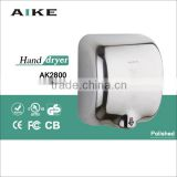 economic widly used high speed jet air hand drying machine hand dryer stainless steel hand dryer AK2800