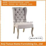 Dining chair,Luxury,Tufted back with buttons,Rubber wood and fabric,TB-7117B                                                                         Quality Choice