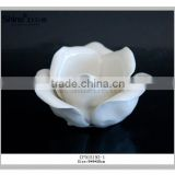 2016 new product hannmade ceramic white/pink rose tealight candle holder wholesale decoration