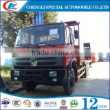 Mechanical type Ladder flat bed truck 15T Engineering transport truck 6x4 Flat bed truck for sale