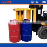 Forklift Attachment Four Oil Drum lifting Clamp for Handler Iron or Plastic Drums
