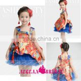 K136 New Arrival chinese style spaghetti strap knee length ball gown pageant dresses for little girls
