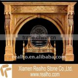 Beautiful ethanol marble fireplaces decoration