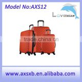 ABS+PC 3 pcs set eminent soft trolley luggage abs / polycarbonate trolley luggage polo trolley luggage