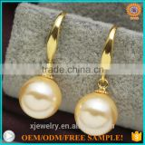 custom S925 silver fancy mother of pearl beads earrings for party girls
