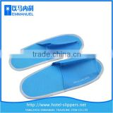 Blue bedroom non-woven warm hotel slippers for disposable