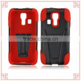 high quality pc silicone combo case with kickstand for kyocera c6725
