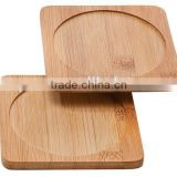 Custom Square Antique Bamboo Wood Wine Bottle Coaster