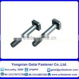 Square head bolts with large/small, DIN933/931 H.D.G / Galvanized with black /yellow zinc plated/blue white