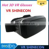 VR Shinecon VR Virtual Reality Real 3D Glasses Helmet Google Cardboard Oculus Rift DK2 for 4.7 -6 inch Smartphone