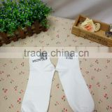 factory wholesale custom men sports white color tight socks cotton for logo,socks supplier