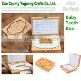 High Quality Customized Baby Tooth Box,wooden tooth box,baby first tooth box