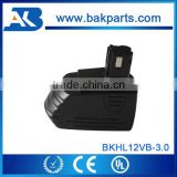 power tools spare parts 12V - 3.0Ah Li ion battery for cordless drill hilti