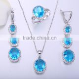 wholesale fancy design dubai costume fashion gemstone jewelry in silver