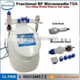 2016 portable 2 in 1 fractional rf microneedle & cold head for skin care beauty machine