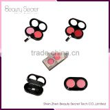 Professional kiss beauty blusher palette with 2 colors