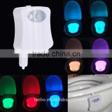 8 Colors LED Toilet Nightlight Motion Activated Light Sensitive Dusk to Dawn Battery-operated Lamp lamparas 3d tooth lamp