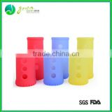 Hot Sale Popular Colorful water protective glass bottle cover silicone/silicone bottel sleeve