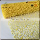 2016 Flower Wrap Metallic Mesh 100% Polyester Fabric