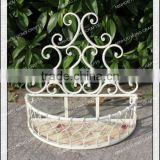 Garden hanging half round chinese decorative wallmetal flower pot rack/wrought iron plant stand/metal plant pot holder wholesale