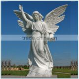 garden largw stone angel statue with wing for sale