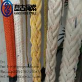china Qingdao Pangu Hawse 65mmX200M Double Braided Nylon/pp/pe/uhmwpe lifting winchshipping MARINE ROPE cable