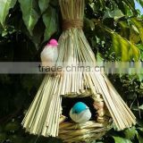 Custom small Hot sale wooden birdhouses crafts, finch bird cage
