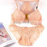 Lady care sexy sponge stylish hot fancy bra and panty set