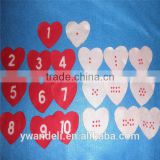 Heart Number Match Felt Board Felt Set Valentines Save The Date