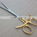 "Orthopedic Bone Holding Forceps Clamps 8"" Gold Plated Bone Surgery Instrument"