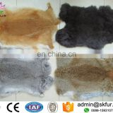 Tanned raw or dyed color rabbit pelts for sale