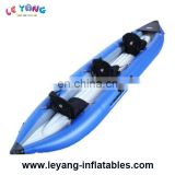 Inflatable sea sport boat / one person inflatable boat for sale / pontoon boat