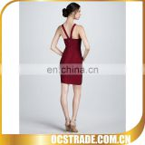 2014 hot sell welcome wine red arabian evening dresses