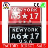 new york whosale personal design 1mm aluminium alloy cars licence/number plate with BV certification (licence plate-066)