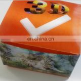 Customized style 3d PET/PP packing case for tabel/sale/promotion/gift