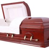 solid wood casket