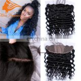 Silk Base Frontal With Baby Hair 7A Silk Top Lace Front 13x4 Malaysian Loose Curly Silk Base Lace Frontal With Baby Hair