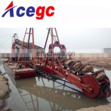Chinese bucket gold dredge boat pontoons for sale