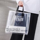 Custom Durable PVC Blank Waterproof Shopping Clear Plastic Ladies Travel Storage Organizer Hand Beach Bag, bagease, bagp