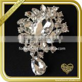 Wholesale flower hair brooches pins crystal rhinestone lady men wedding brooch FB-027