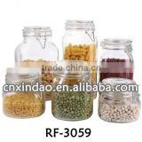 China Made Wholesale Clear Glass Jars and Lids for Daily Use