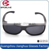 Vogue black frame black polarized lens over glasses sunglasses fishing cycling trekking riding driving gafas