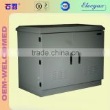 Telecom outdoor enclosure with battery shelf/SK-76105/battery rack cabinet with air conditioner cooler                                                                                                         Supplier's Choice