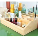 Pine solid wood 2 layer Cosmetic Organizer Box Makeup bag case                                                                         Quality Choice