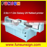 Galaxy UD-2512UFW 2.5 x1.2m uv flatbed printer with white color for Wood ,Glass,Aluminum                                                                         Quality Choice