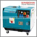 KINGCHAI Power three phase portable noiseless camping diesel generator digital display panel double meters 5kva/5kw