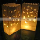 Star Moon Tea light Holder Luminaria Paper Lantern Candle Bag For Christmas Party Home Outdoor Wedding Decoration