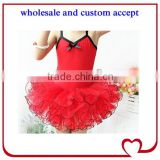 Popular hot-sale ballet girl tutu dress sleeveless girl ballet dress for dance red ballerina skirt